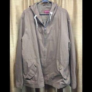 Mens Merona Beige Hooded Jacket